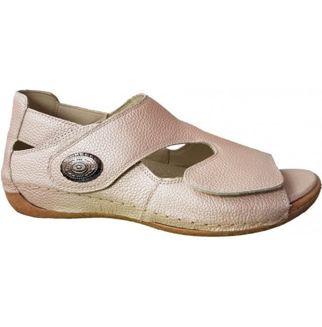 Waldlaufer Womens Heliett Pigalle Apricot Strap Over Sandals 342021 172 089