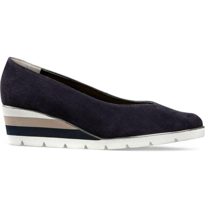 Van Dal Womens Ariah Midnight Summer Suede Slip-On Shoes 2662470