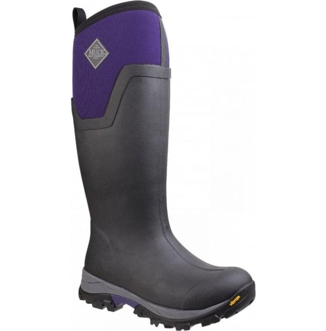 Muck Boots Womens Arctic Ice Black/Purple Tall Extreme Conditions Sport Boots
