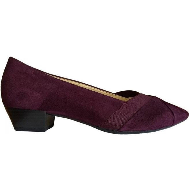 Gabor Womens Opera Merlot Suede Court Shoes 95.135.15