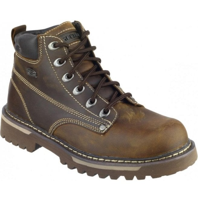 Skechers Mens Chocolate/Dark Brown Cool Cat - Bully II Ankle Boots SK4479