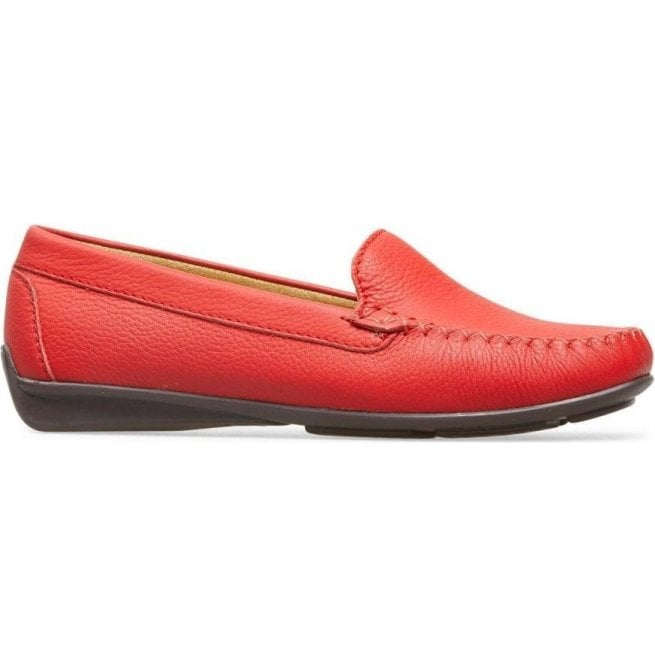 Van Dal Womens Jemima SM Red Casual Leather Loafer 2825520