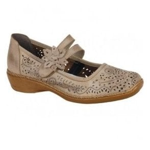 Ganges Bar Shoes In Taupe Leather 41372-63