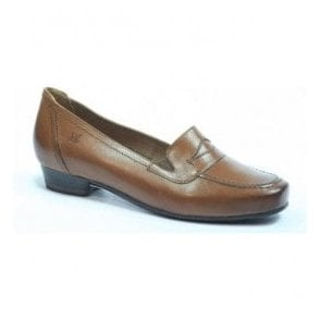 Womens Marietta Brown Leather Shoes 9-24252-29