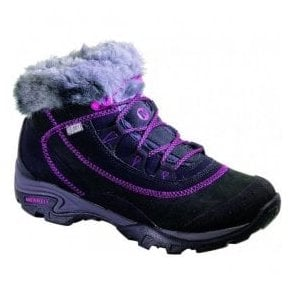 Womens Snowbound Drift Black/Violet Waterproof Boots J48362