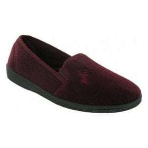 Mens Stag Wine Slippers