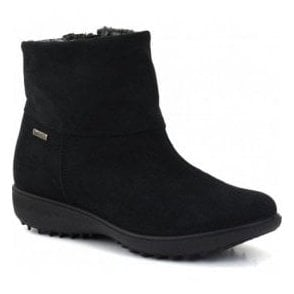Womens Nadja 101 Black Waterproof Suede Ankle Boots