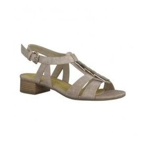 Womens Taupe T-Bar Sandals 2-28107-22 234