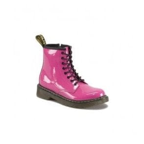 Delaney Pink Patent Leather Junior Boots 15382670