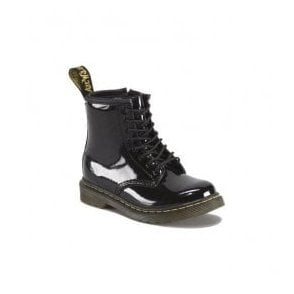 Brooklee Black Patent Leather Kids Boots 15373003