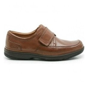 Mens Swift Turn Mahogany Leather Shoes Extra Wide