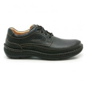 Mens Nature Three Black Leather Shoes