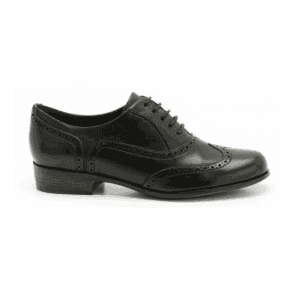 Womens Hamble Oak Black Leather Casual Shoes