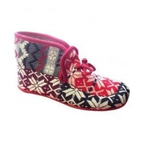 Womens Avening Red Multi Colour Bootie Slippers