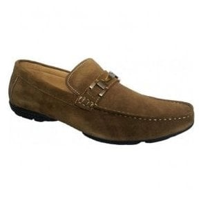 Mens Duke Taupe Suede Slip On Shoes