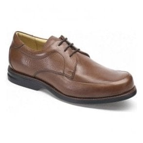 Mens New Recife Tan Leather Lace Up Shoes