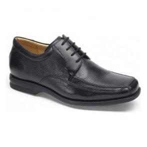 Mens Goias Black Leather Lace Up Shoes