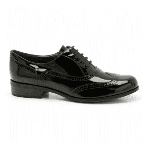 Womens Hamble Oak Black Patent Leather Casual Shoes