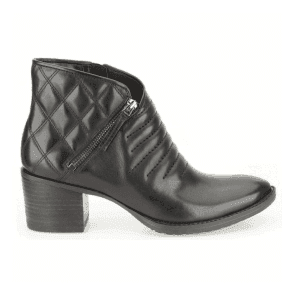 Womens Movie Retro Black Leather Casual Boots