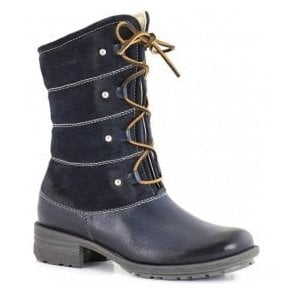 Womens New Palmira Blue Calf Boots 93772
