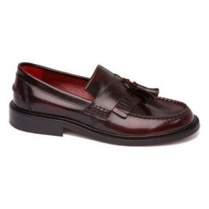 Unisex Rude Boy Hi-Shine Bordo Tasseled Loafers