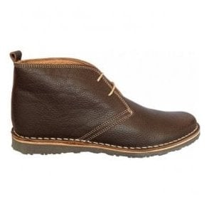 Mens Hammond Brown Leather Desert Boots