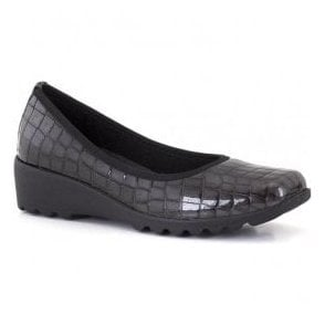 Womens Carree 02 Steel Croc Slip On Shoes