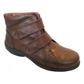 Womens Legacy Brown Leather Ankle Boots