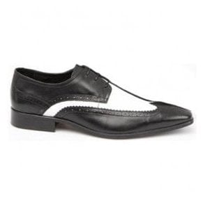 Mens Dekker Black/White Classic Brogue DJ5016-02