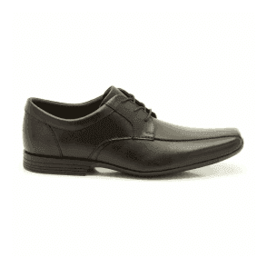 Mens Forbes Over Black Leather Formal Shoes