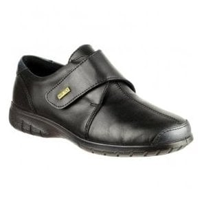 Womens Cranham Black Waterproof Velcro Shoes