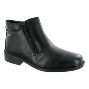 Mens Kelmscott Black Waterproof Zip Ankle Boots