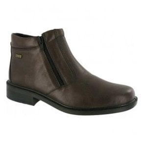 Mens Kelmscott Brown Waterproof Zip Ankle Boots