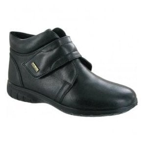 Womens Chalford Black Waterproof Velcro Ankle Boots