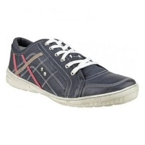 Mens Cinderford Blue Jeans Trainer Type Shoes