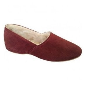 Mens Anton Wine Luxury Slippers