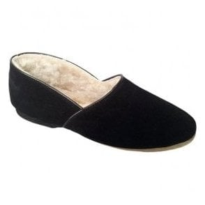 Mens Anton Black Luxury Slippers