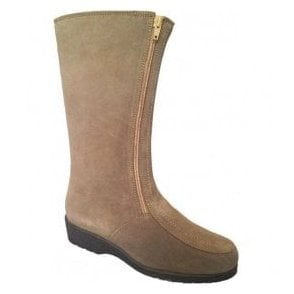 Womens Ambleside Taupe Suede Boots Water Resistant