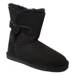 Womens Aviemore Black Suede Ankle Boots