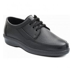Mens Rebel Black Lace Up Shoes