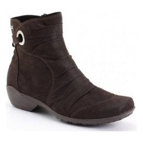 Womens Citytex 121 Moro Brown Waxy Ankle Boots