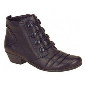Womens Cristallin Black Ankle Boots D7372-11
