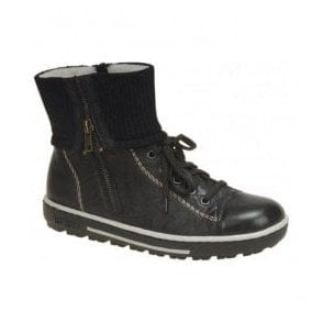 Womens Sydney Black Zip Boots Z8760-00