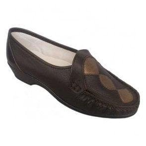 Womens Ivy Brown/Copper Slip On Shoes