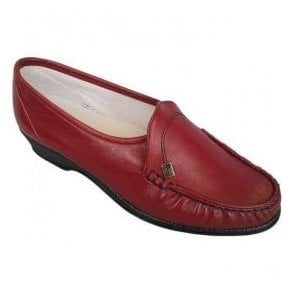 Womens Ida Red Slip On Shoes