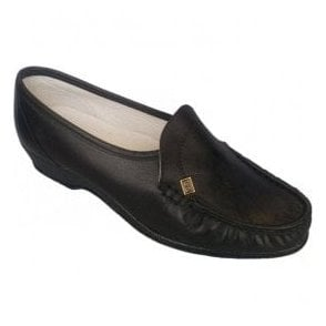 Womens Ida Black Slip On Shoes