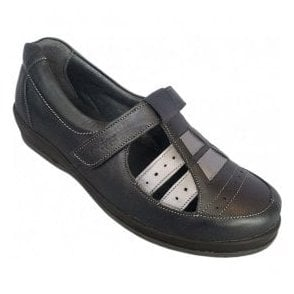 Womens Foxton Navy Extra Wide Shoes