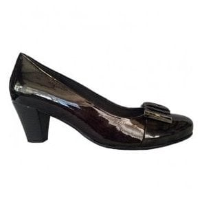 Womens Anthracite Patent Court Shoes 92.164.90