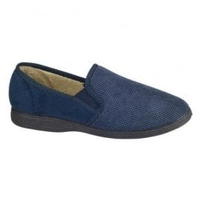 Mens Tim Navy Slippers