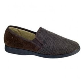 Mens Tim Brown Slippers